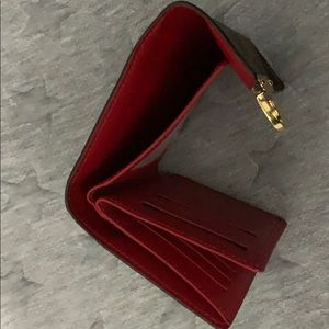 Louis Vuitton Bags - INSTANT SHIP Louis Vuitton wallet w red interior
